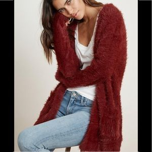 Velvet by Graham & Spencer | Ruby Fuzzy Yarn Cardi